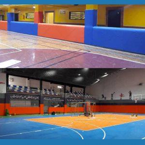 دیوارپوش سالن ورزشی